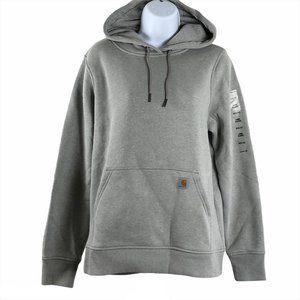 Carhartt Hoodie Sweatshirt Gray Relaxed Fit